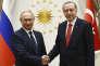Recep Tayyip Erdogan et Vladimir Poutine, à Ankara, le 28 septembre.