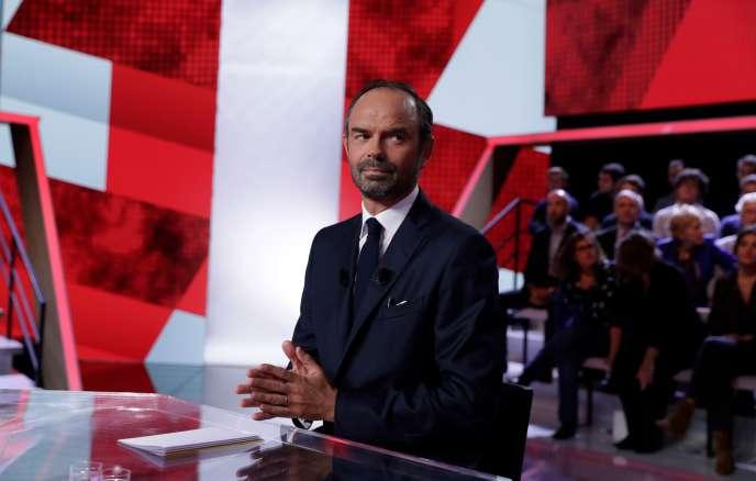 Edouard Philippe, le 28 septembre, sur le plateau de« l'Emission politique».