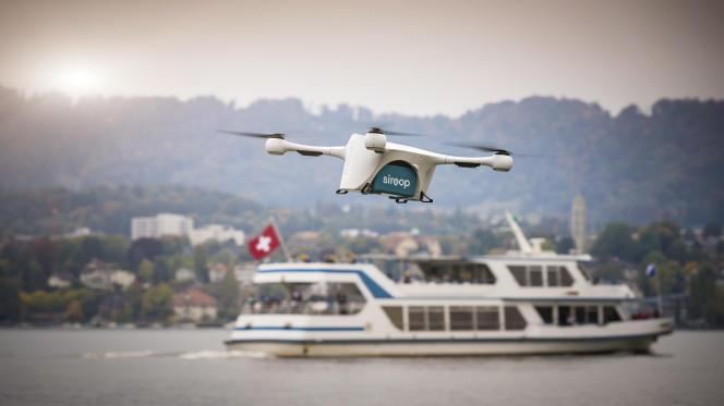 Le drone mis au point par Matternet pour les livraisons en milieu urbain