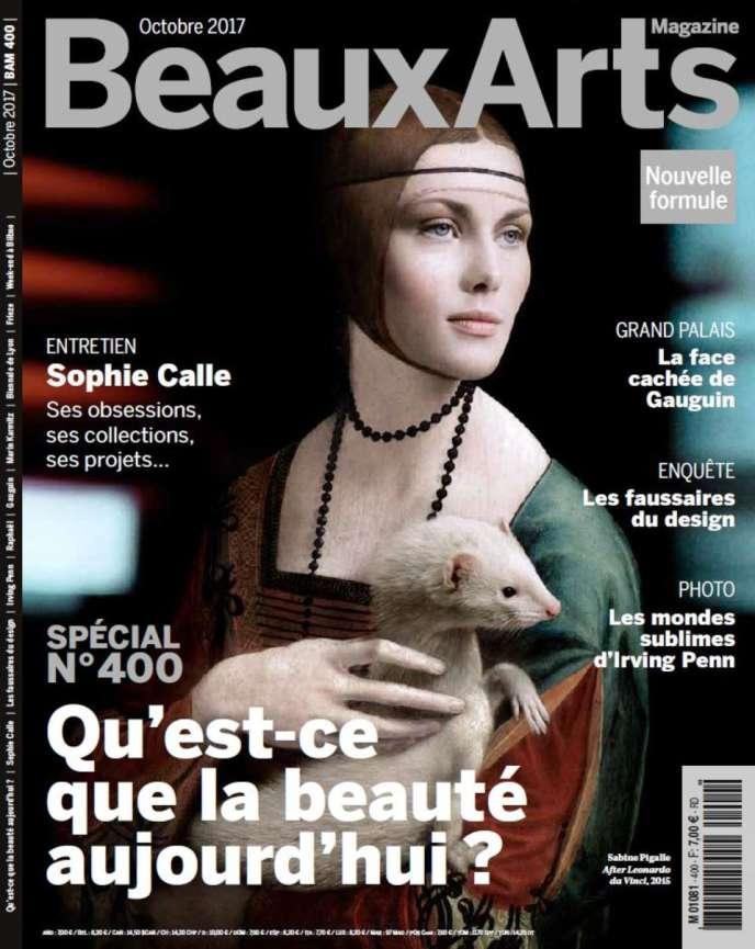 La couverture du numéro 400 de« Beaux Arts Magazine» (octobre 2017).