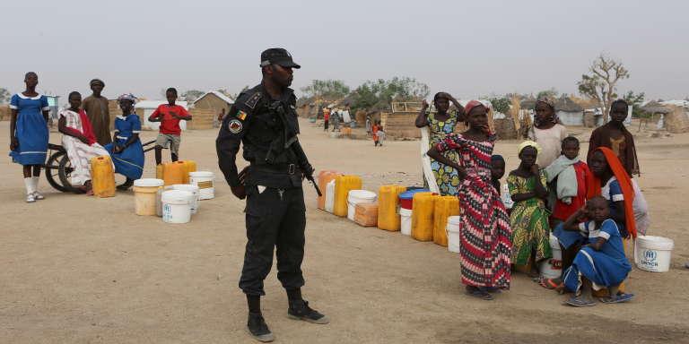 Camp de réfugiés de Minawao, dans l'Extrême-Norddu Cameroun, où vivent des dizaines de milliers de réfugiés nigérians fuyant les exactions de la secte djihadiste Boko Haram.