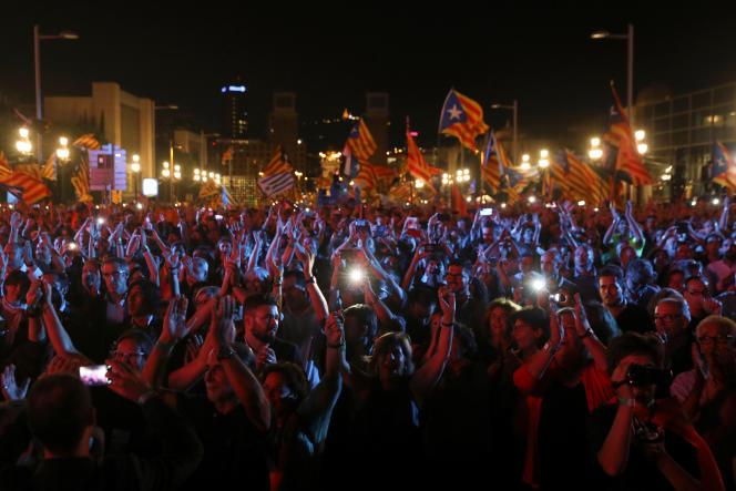 Manifestation en faveur du référendum, vendredi 29 septembre à Barcelone.