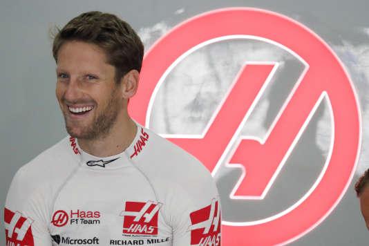 Le pilote franco-suisse Romain Grosjean, avant sa violente sortie de route lors des essais du 29 septembre à Sepang (Malaisie).