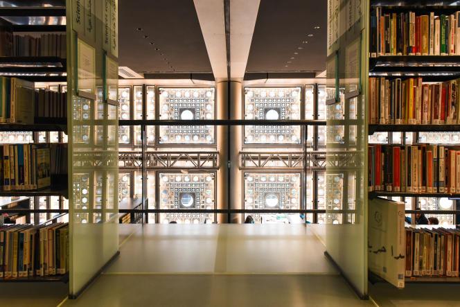 A l'intérieur de l'Institut du monde arabe (IMA), à Paris, le 28 septembre.
