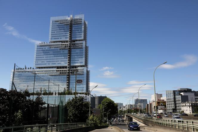 Le nouveau palais de justice de Paris, conçu par l'architecte italien Renzo Piano, dans le quartier Clichy-Batignolles, le 25 juin.