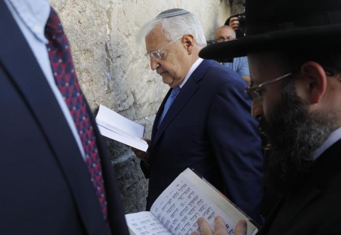 L'ambassadeur américain à Tel Aviv David Friedman en mai.