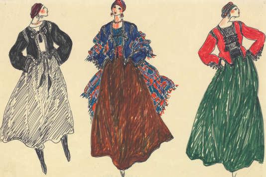 Collection haute couture automne-hiver 1976.