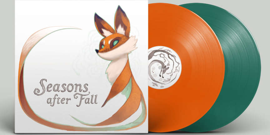 La bande-originale de « Seasons After Fall » sur disque vinyle.