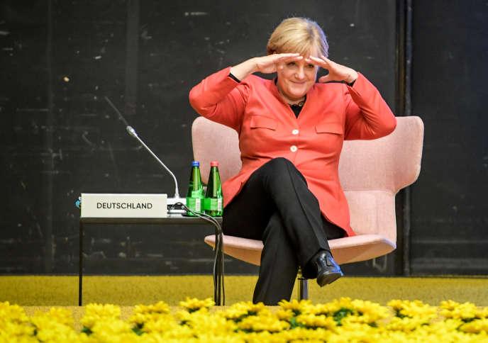 La chancelière allemande Angela Merkel, le 29 septembre en Estonie.