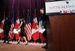 Chrystia Freeland, ministre canadienne des affaires étrangères, et Ildefonso Guajardo Villarreal, ministre mexicain de l'économie, le 27 septembre, lors de la renégociation du traité de libre-échanges.