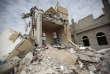 La ville de Sanaa, au Yémen, en ruines après des frappes aériennes attribuées à l'Arabie saoudite, le 25 août.