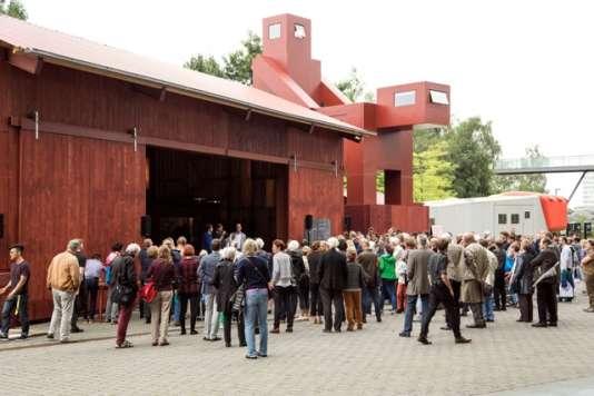 L'installation «Domestikator» de la coopérative néerlandaise Atelier Van Lieshout, à Bochum (Allemagne), dans le cadre de la Ruhrtriennale.