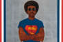 «Icon for My Man Superman (Superman Never Saved any Black People– Bobby Seale)», 1969, de Barkley Hendricks.