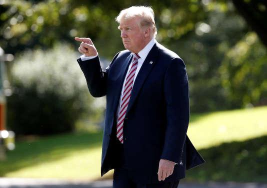 Le président américain Donald Trump à Bedminster, dans le New Jersey, le 29 septembre.