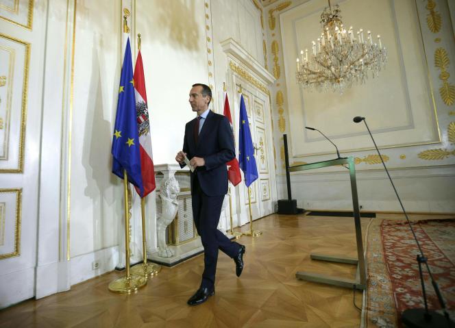 Christian Kern, le chancelier autrichien, à Vienne, le 1er octobre 2017.