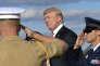 Le président américain Donald Trump à l'aéroport de Morristown, dans le New Jersey, le 29 septembre.