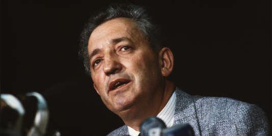 Edmond Maire, le 27 septembre 1982.