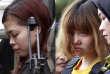 Les deux jeunes femmes accusées de l'assassinat en Malaisie deKim Jong-nam.