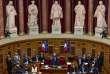 Gerard Larcher, après sa réélection à la présidence du Sénat, le 2 octobre à Paris.