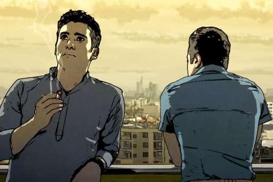 Une image extraite du film d'animationallemand d'Ali Soozandeh,« Téhéran Tabou»