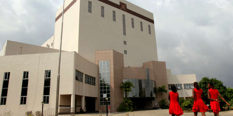 Le Palais de la culture d'Abidjan en Côte d'Ivoire, a été constuit par des chisoise en2005.