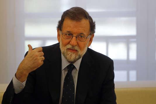 Le premier ministre espagnol Mariano Rajoy à Madrid le 2 octobre.