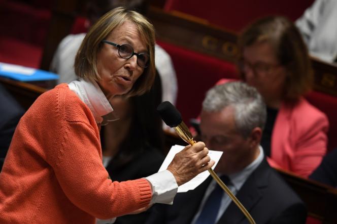 La ministre de la culture et de la communication Françoise Nyssen à l'Assemblée Nationale à Paris,le 3 octobre 2017.