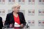 Marine Le Pen, à l'Assemblée nationale le 3 octobre.