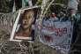 Manifestation de musulmans indonésiens devant l'ambassade de Birmanie à Djakarta, le 8 septembre. Sur l'affiche, le moine Wirathu, au discours violent et antimusulman