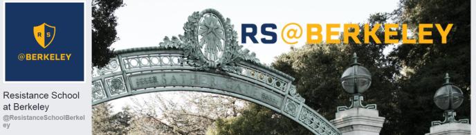La page Facebook du« campus»de la Resistance School de Berkeley, université de Californie.