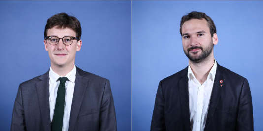 Les députés Sacha Houlié (LRM) et Ugo Bernalicis (LFI).
