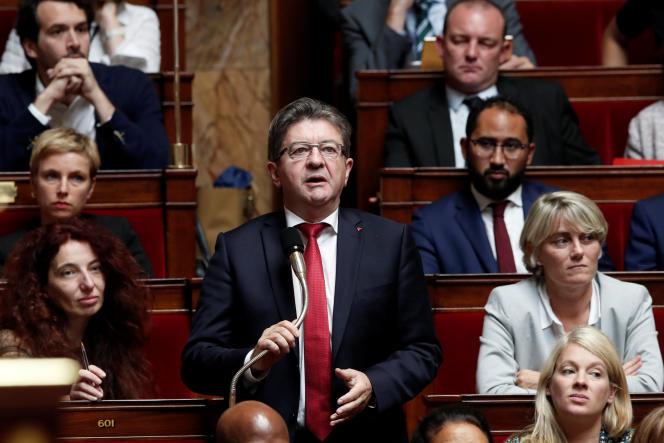 Le député des Bouches-du-Rhône, Jean-Luc Mélenchon, le 3 octobre à l'Assemblée nationale.