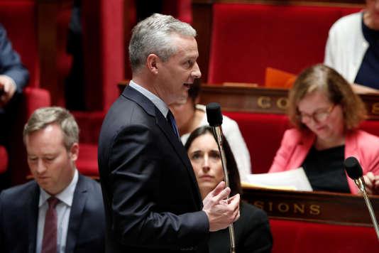 Le ministre de l'économie et des finances, Bruno Le Maire, à l'Assemblée nationale, le 3 octobre.