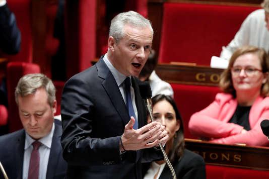 Le ministre de l'économie, Bruno Le Maire, à l'Assemblée.