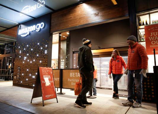 Une boutique Amazon Go, à Seattle (Etat de Washington), le 5 décembre 2016.