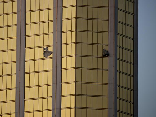 L'étage à partir duquelStephen Craig Paddock a tiré sur la foule, à l'hôtel Mandalay à Las Vegas, le 2 octobre.
