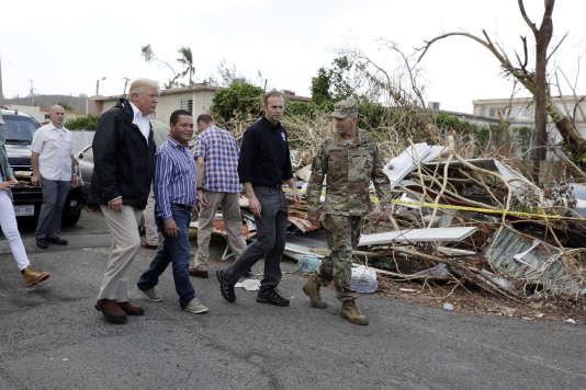 Le président américain Donald Trump en visite à Porto Rico, le 3 octobre.