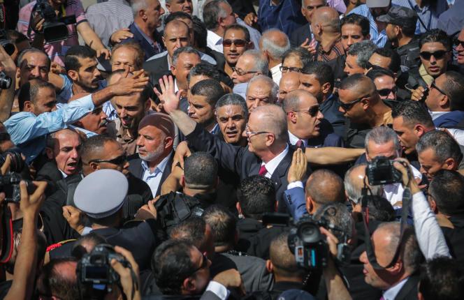 Le premier ministre palestinien Rami Hamadallah à Gaza le 2 octobre.