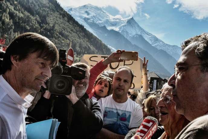 Nicolas Hulot, à Chamonix (Haute-Savoie), le 29 septembre.