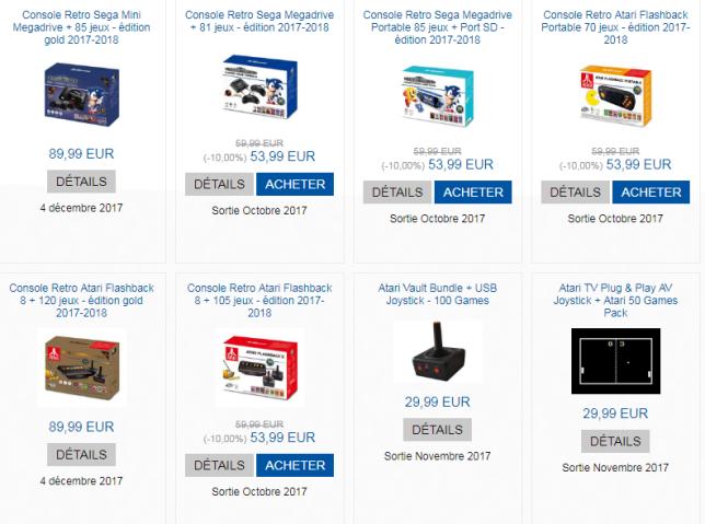 Des entreprises comme Just For Games se sont spécialisées dans la vente de consoles rétro.