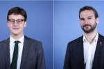 Les députés Sacha Houlié (La République en marche) et Ugo Bernalicis (France insoumise).