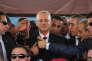 Le premier ministre de l'Autorité palestinienne, Rami Hamdallah, au point de passage de Beit Hanoun, au nord de la bande de Gaza, le 2 octobre.