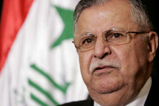 Le président irakien, Jalal Talabani, à Bagdad le 25 mai 2006.