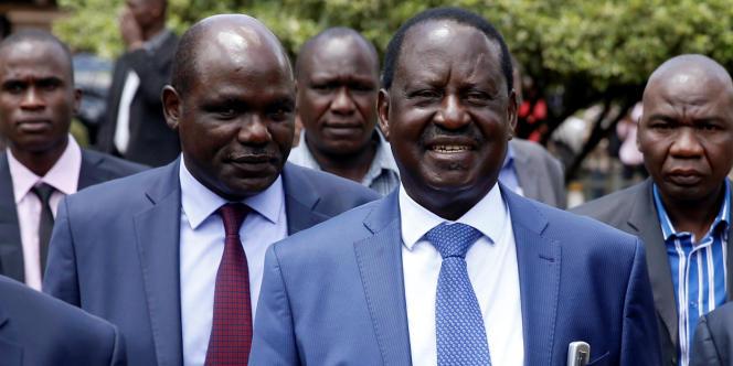 A Nairobi, le 3 octobre 2017, le leader de l'opposition, candidat à la succession du président sortant Uhuru Kenyatta.