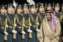 Le roi Salman d'Arabie saoudite lors de son arrivée à l'aéroport Vnoukovo à Moscou, en Russie, le 4 octobre 2017.