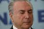 Le président brésilien, Michel Temer, à Brasilia le 4 octobre.