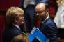 Marc Fesneau, président du groupe MoDem de l'Assemblée nationale, et Edouard Philippe, premier ministre.