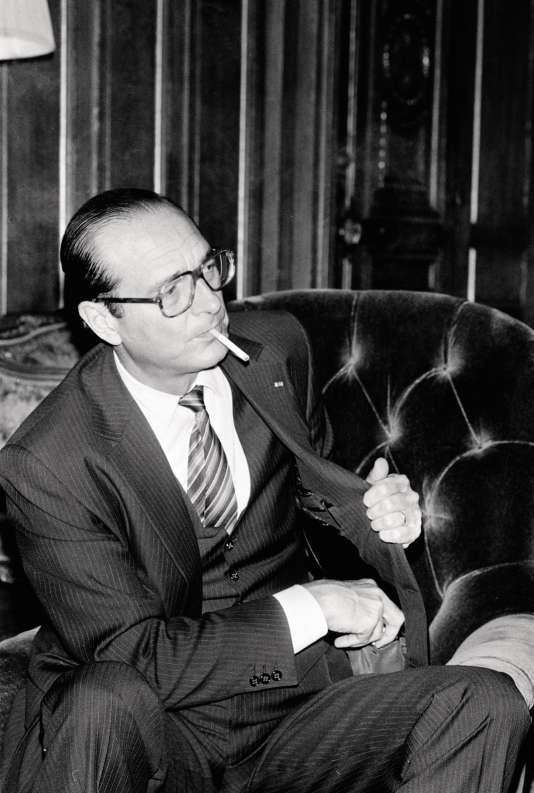 Jacques Chirac en 1982. Il est alors maire de Paris.