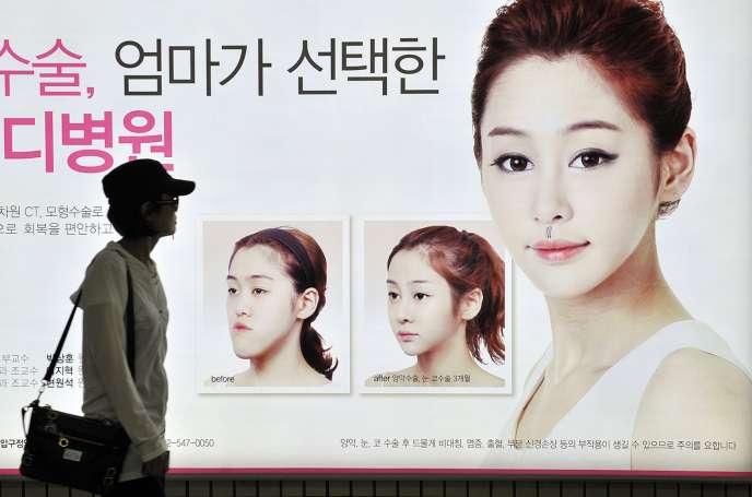 Il n'est pas rare, à Séoul, de croiserdes personnes tout juste opérées, couvertes de pansements.