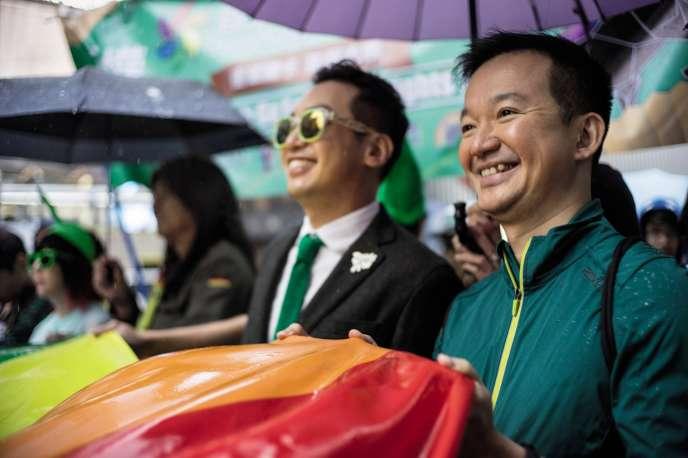 La communauté LGBT de Hongkong (ici lors de la marche de 2016) a lancé la Saison rose 2017, cinq semaines d'activités pouréduquer à la diversité.